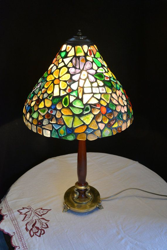 Mosaics Stained Glass Tiffany Lamp  No.6, Decorative Tiffany Lamp