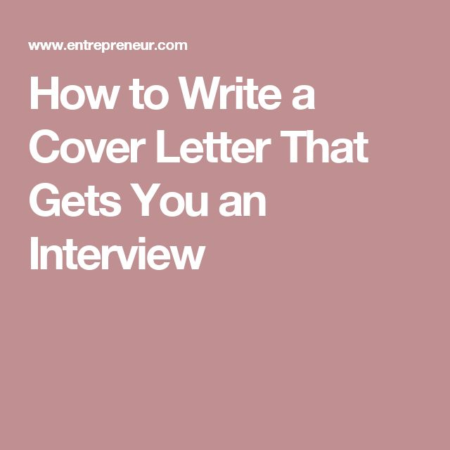 003 How to Write a Cover Letter That Gets You an Interview
