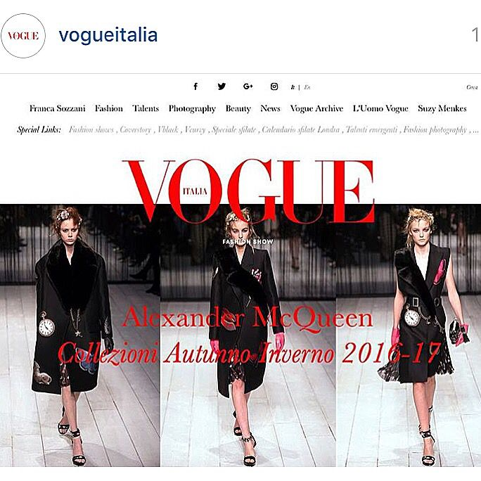 This is the new #vogueitalia digital edition ready for #mfw