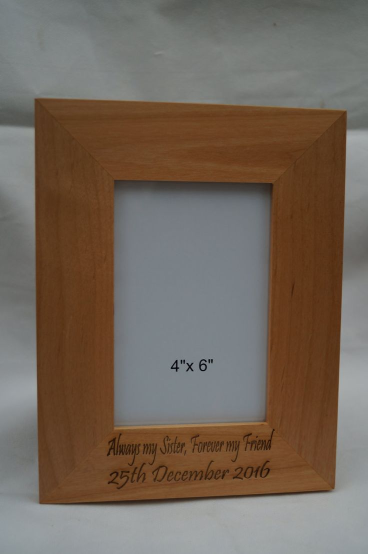 Wooden personalised photo frame, engraved photo frame,  mothers day gift,personalised gift,engraved gift,wooden frame gift, anniversary gift by celebrateyourway on Etsy