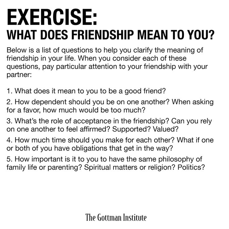 Happy Friday! Your Weekend Homework Assignment is up on The Gottman Relationship Blog. Today's topic: friendship.