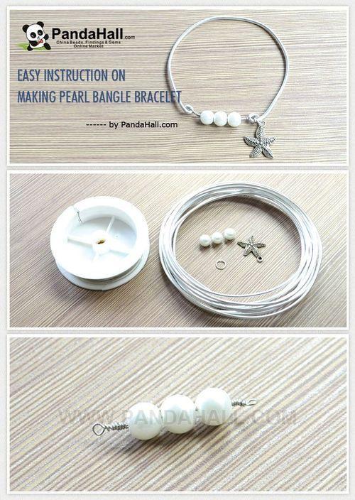 Jewelry Making Tutorial-Easy Instruction on Making Pearl Bangle Bracelet | PandaHall Beads Jewelry Blog