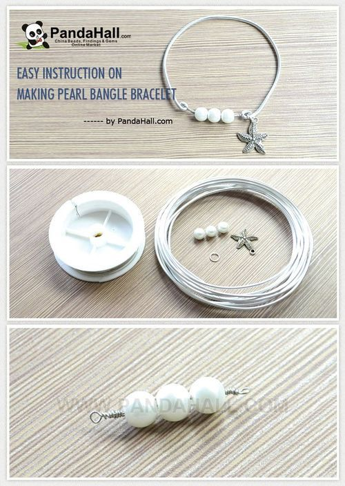 Jewelry Making Tutorial-Easy Instruction on Making Pearl Bangle Bracelet | PandaHall Beads Jewelry Blog