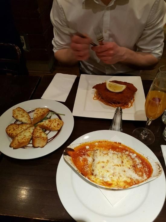 Piazza restaurant food, Leicester Square. Looks standard but tasty - 50% off.