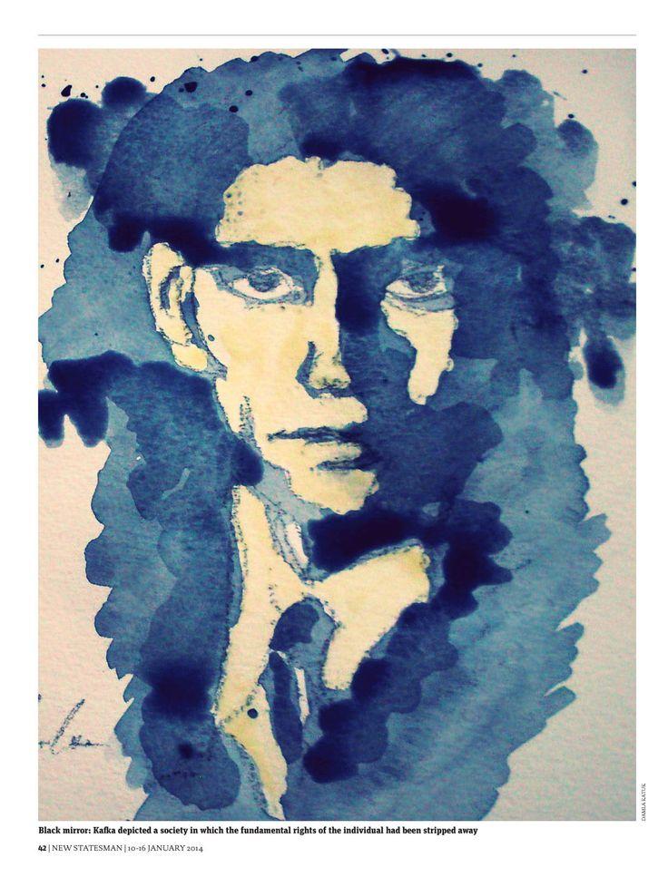 """@Behance projeme göz atın: """"Franz Kafka Portrait, New Statesman, London, 2014"""" https://www.behance.net/gallery/58607811/Franz-Kafka-Portrait-New-Statesman-London-2014"""