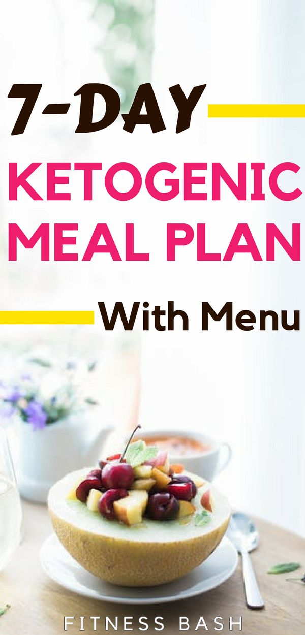 Keto meal plan: A 7 day easy keto meal plan for beginners. A low carb keto meal ...