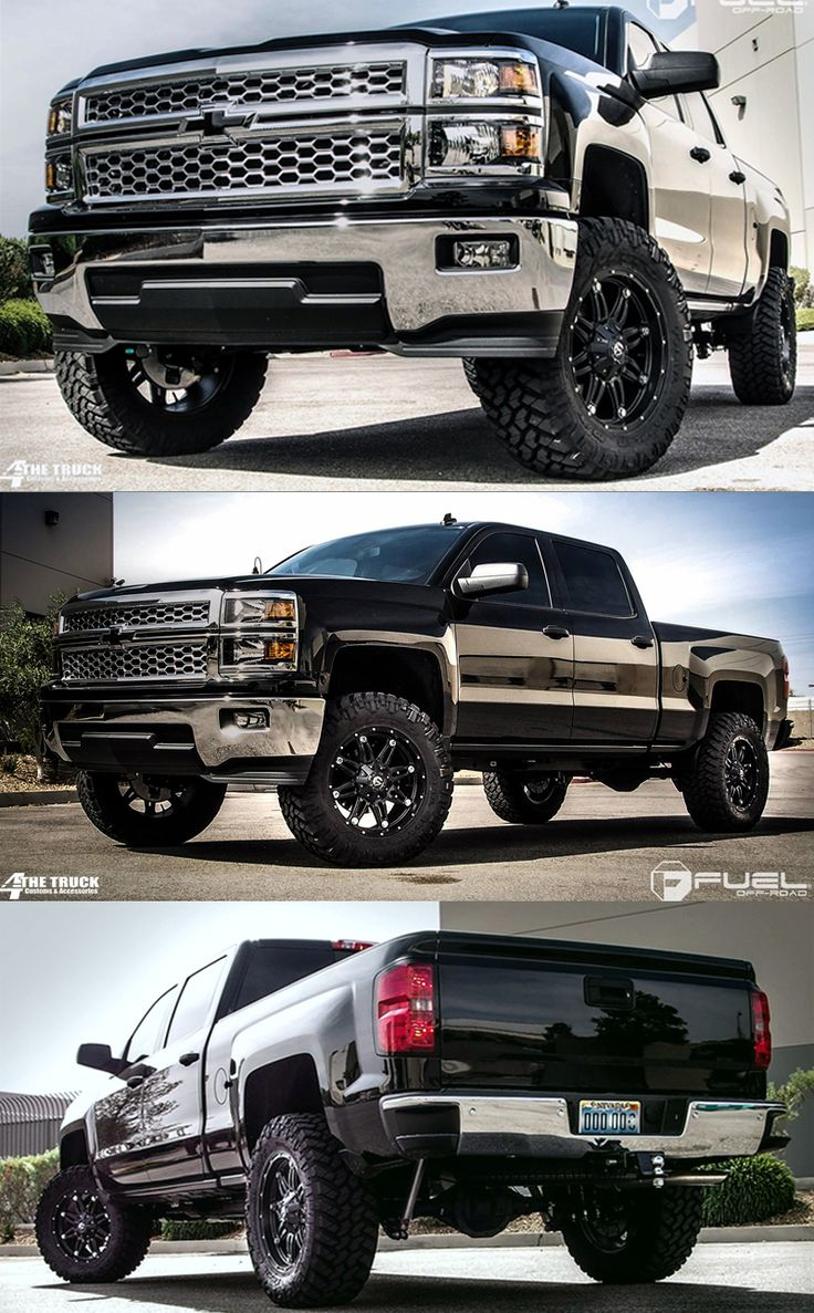 "2014 Chevrolet Silverado » BRAND: FUEL ONE PIECE WHEEL: D531 - Hostage  TIRE SIZE: 35"" WHEEL SIZE: 20"" SUSPENSION: 5.5"" Lift"
