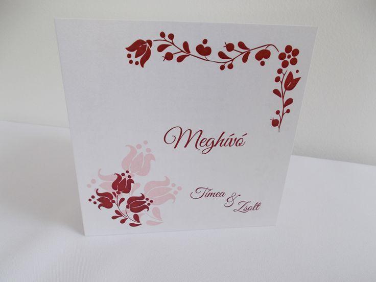 kalocsai mintás esküvői meghívó 05.1