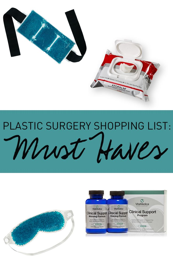 We've put together the list of supplies you'll want to have on hand to make your recovery as comfortable as possible. Learn more about how you can prepare for your surgery in our newly updated Plastic Surgery Planner. Download our free Plastic Surgery Planner here: http://www.dbreath.com/patient-resources/learning-center/plastic-surgery-planner/?utm_source=Pinterest&utm_medium=Description&utm_campaign=Social