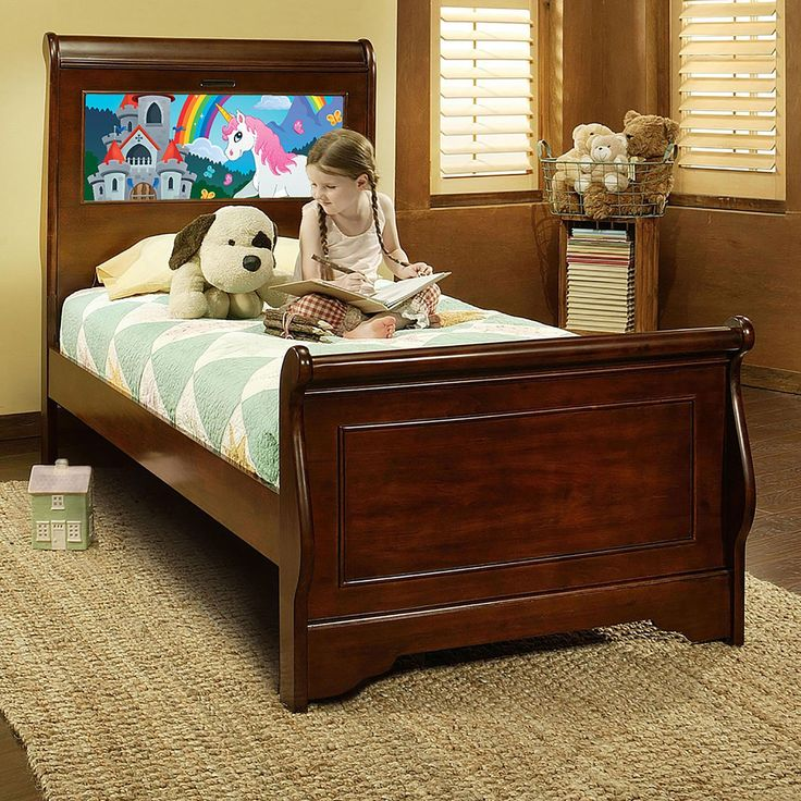 LightHeaded Beds Edgewood Twin Sleigh Bed in Cheshire