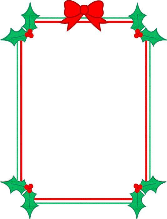 Resultado de imagen para bordes navideños para word e imprimir ...