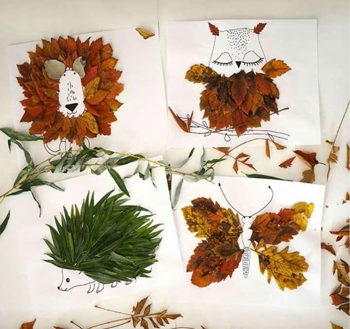 Открытки из природного материала на тему осень, картинки надписью