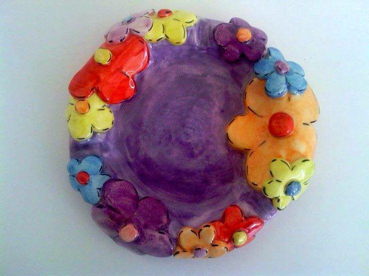 thrown on the wheel ceramic ashtray