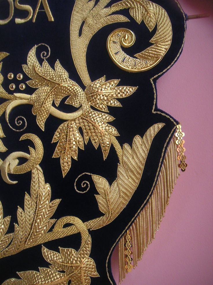 Learn how to do goldwork like this from experts who work for Chanel, Louis Vuitton and more at https://www.mastered.com/course-listings/3