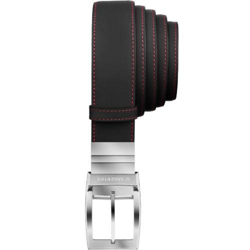 TAG Heuer Monaco Mangum Mens Black Leather Reversible Belt £265.00 #leather #belt #TAGHeuer
