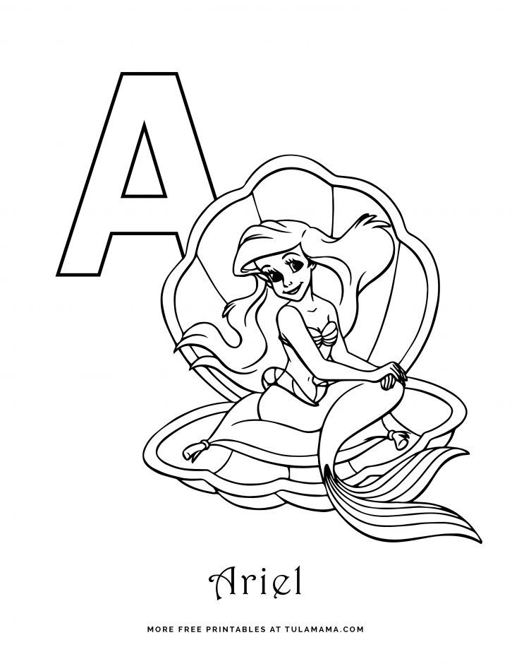 Free Printable Disney Alphabet Coloring Pages Disney Alphabet Abc Coloring Pages Disney Coloring Pages