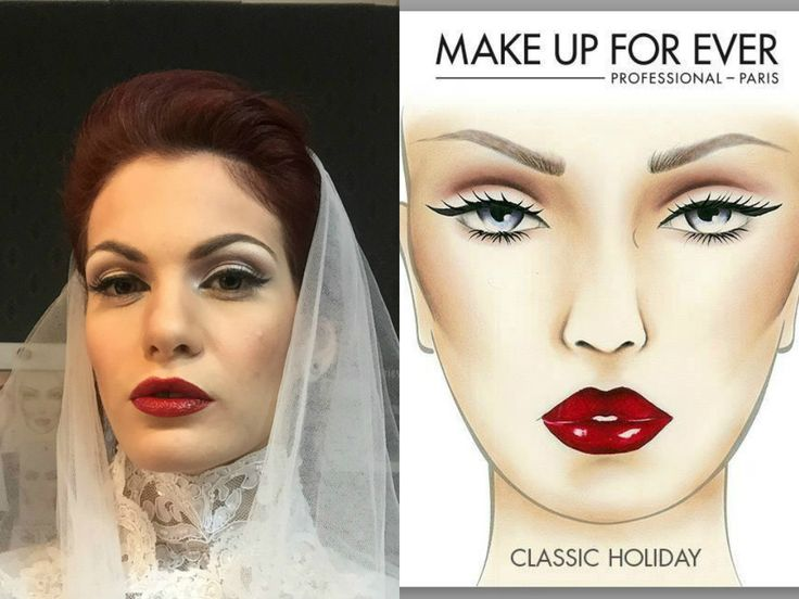 recreation for vintage wedding make-up