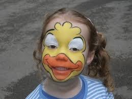 Facepaint duck  www.schminkenisleuk.nl