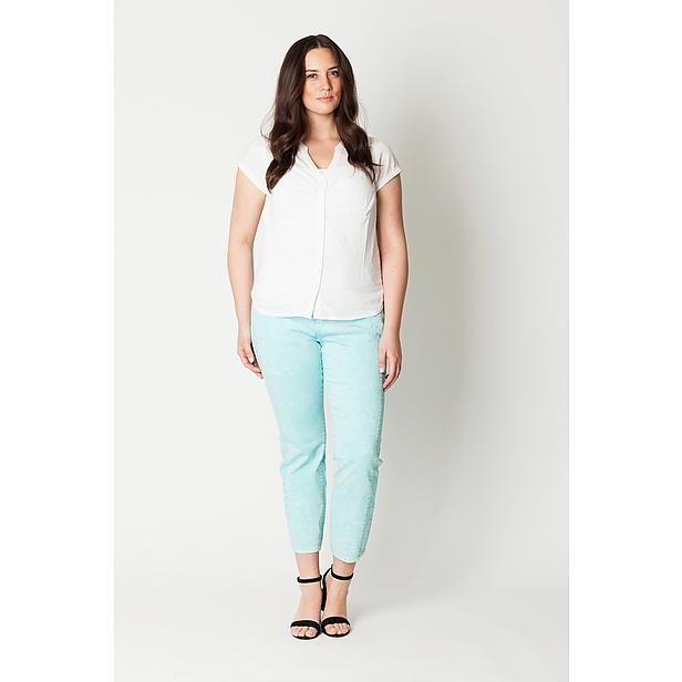 MS Mode blouse in grote maten - waarom maar 64 cm? Beetje kort! Wel leuke dessins