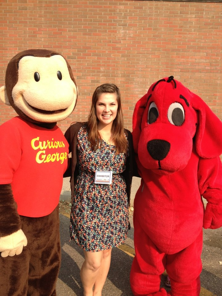 The OWC took part in the Word on the Street Festival, and met Curious George and Clifford the Big Red Dog!