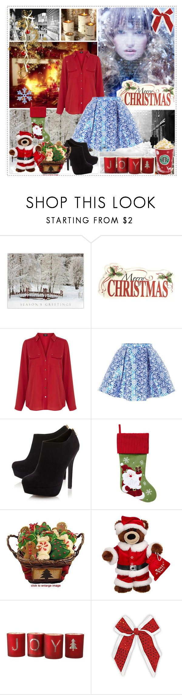 """""""""""Christmas is not a time nor a season, but a state of mind. To cherish peace and goodwill, to be plenteous in mercy, is to have the real spirit of Christmas."""" - Calvin Coolidge"""" by getterkagu ❤ liked on Polyvore featuring beauty, Burberry, WALL, Oasis, Glamorous and Head Over Heels by Dune"""