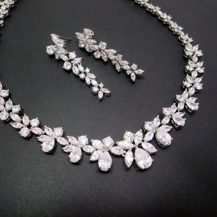 Best 25 bridal necklace set ideas on pinterest wedding jewelry bridal necklace set wedding jewelry set crystal necklace rhinestone jewelry set bridal junglespirit Image collections