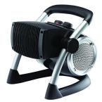 1500-Watt Pro-Ceramic Utility Electric Portable Heater with Pivot Power, Black
