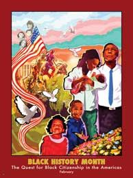 Black History Month The Quest for Black Citizenship in the Americas Poster (GSA)