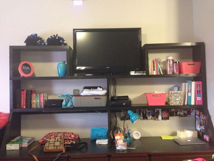 Decorating Ideas > Ole Miss Dorm Room Shelf Idea  College Bound  Pinterest  ~ 233542_Dorm Room Shelf Ideas