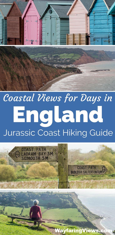 Get epic coastal views on the Jurassic coast of England with this hiking guide. | Southwest Coast Path |Countryside Walks | Beaches | Travel to Devon and Dorset | #unitedkingdom #england #unesco