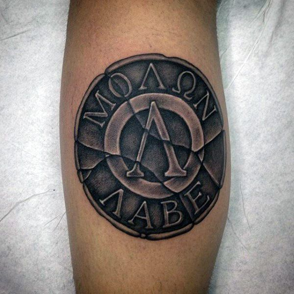 30 Molon Labe Tattoo Designs For Men