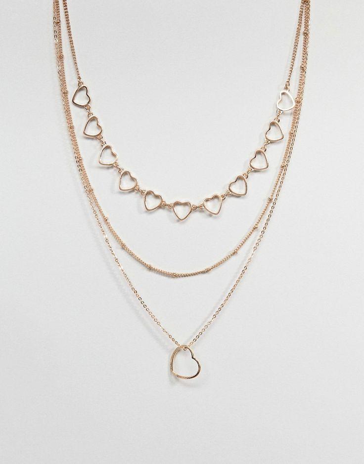 ASOS - Mehrreihige Halskette mit ausgeschnittenem Herz - Gold Jetzt bestellen unter: https://mode.ladendirekt.de/damen/schmuck/halsketten/goldketten/?uid=d02f1219-20f8-5114-9e97-85d2e6334ce7&utm_source=pinterest&utm_medium=pin&utm_campaign=boards #goldketten #schmuck #halsketten #uhren #female #ketten