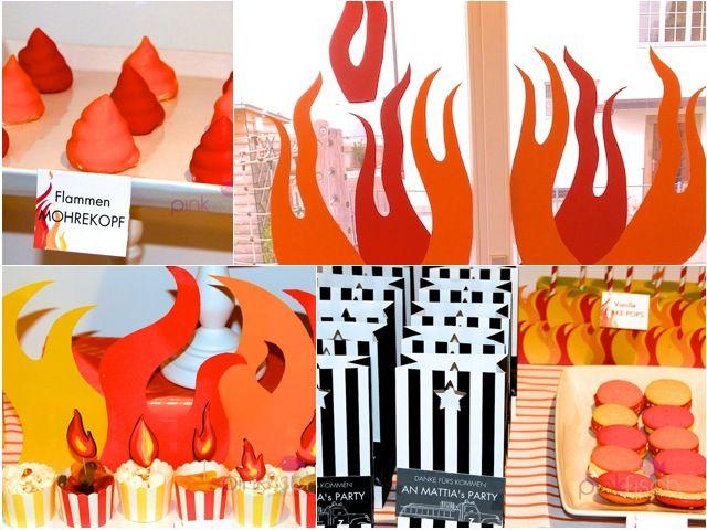 Pizza Geburtstag für kleine Feuerwehrmänner - Pinkfisch.com and Thatbakinggirl.com