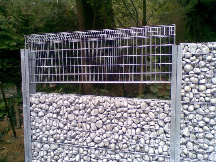 gabion fencing or wall system fences pinterest corrugated metal metals and diy and crafts. Black Bedroom Furniture Sets. Home Design Ideas