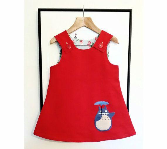 Mei totoro dress white red