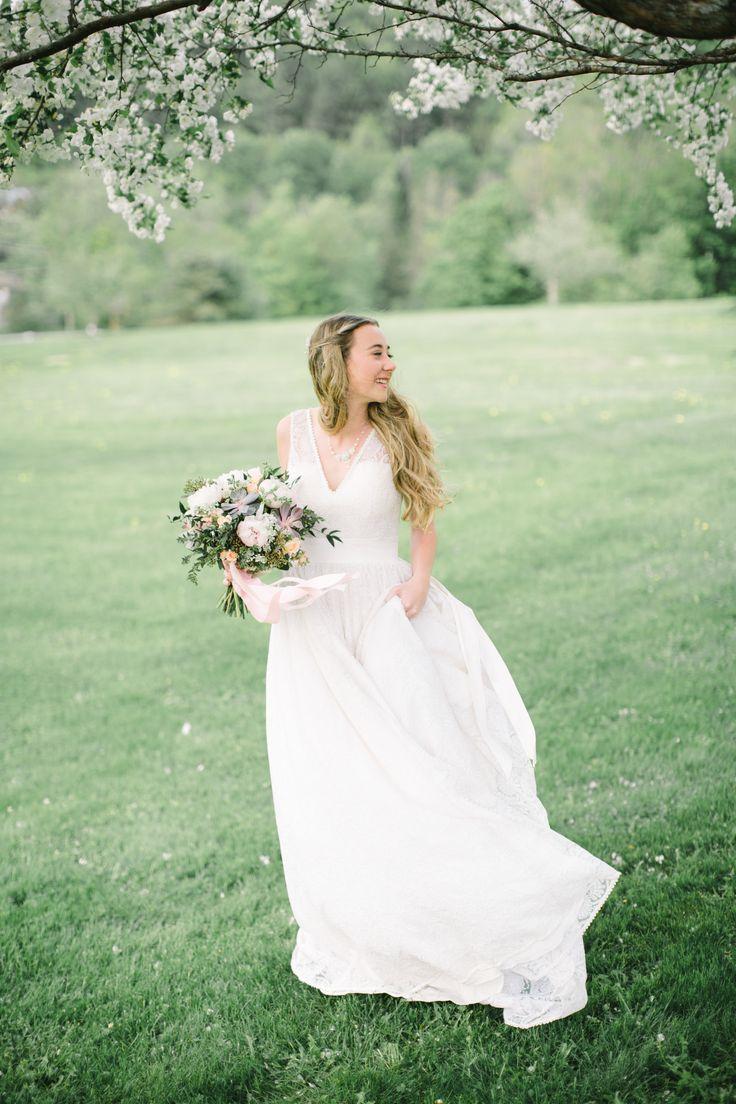 Apple blossom wedding dresses