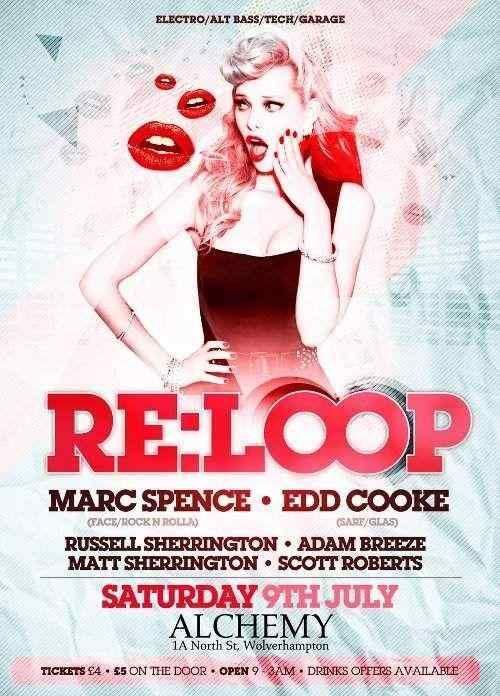 RE:LOOP Nightclub Flyer by Danwilko