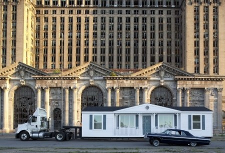 Suburbia goes to town - mobile homestead by Mike Kelley: Training Stations, The Artists, Central Training, American Art, Mobiles Homesteads, Contemporary Art, Detroit Central, Abandoned Detroit, Mike Kelley