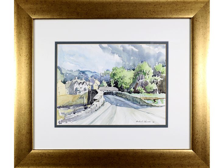 'Llanfair TH village scene' by Maurice A Greenwood. Original watercolour, signed & dated.
