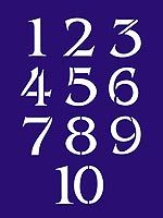 Number Stencils Small Numbers Stencil