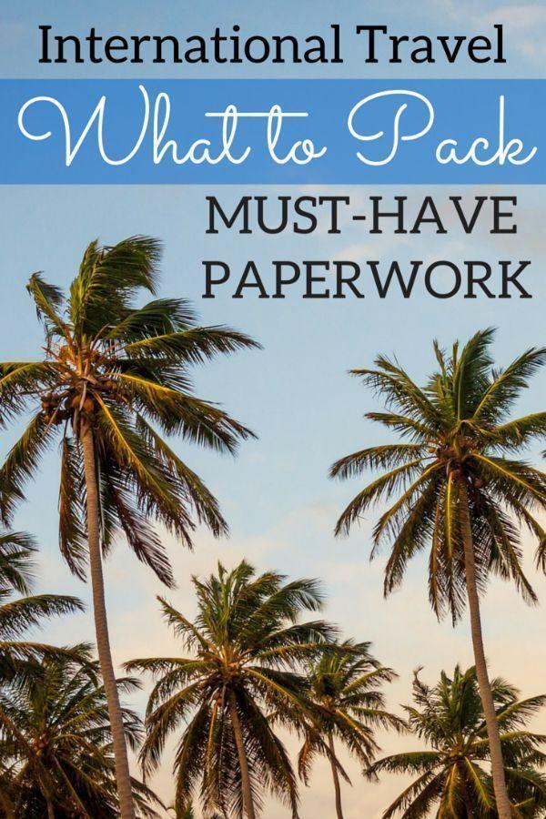 International Travel Packing List Essential Documents