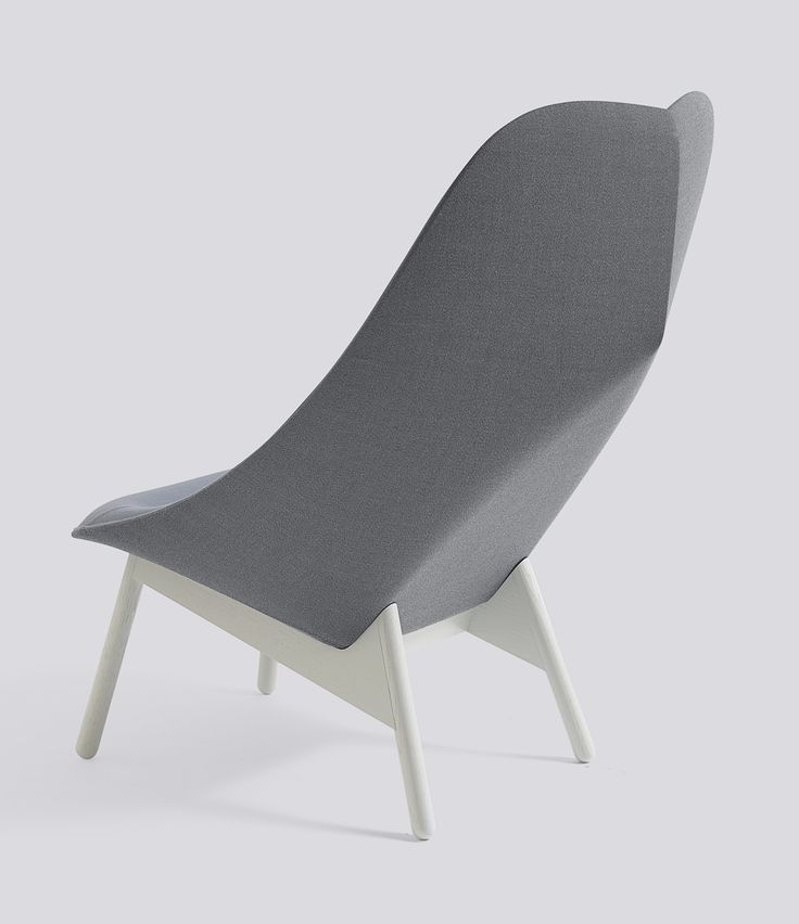 The Uchiwa lounge chair is a minimalist design by London-based designer Doshi Levien for contemporary furniture manufacturer Hay.