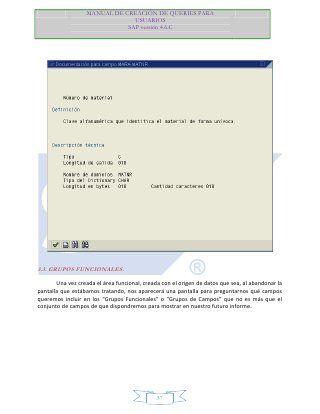 Manual creacion-queries-sap