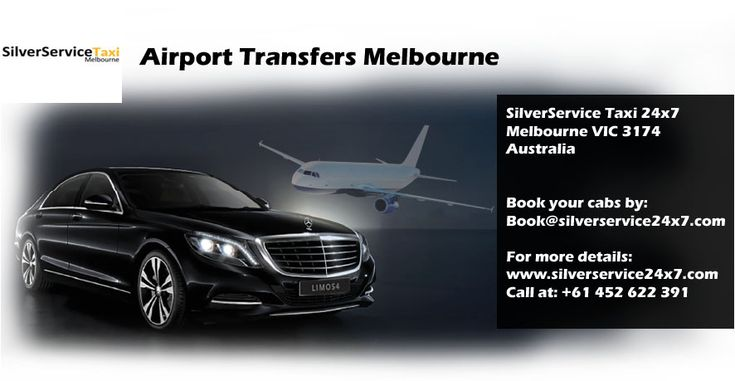 Silverservice24x7 #Taxi #Melbourne provides offer that you can reserve #airport #pickup and #transfer via a simple process by an online system, or by directly calling us. Our driver will be waiting for you at the #airport and you will be transferred to your location safely and conveniently. Call us at +61 452 622 391 and Book cabs by Book@silverservice24x7.com