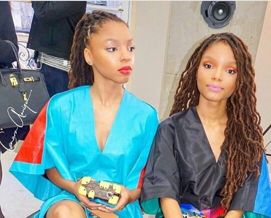 Chloe and Halle. Teens with locs