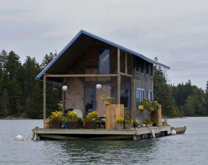 Best Homes House Boats Images On Pinterest Houseboats Tiny - Awesome floating house shore vista boat dock by bercy chen studio