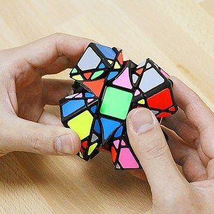 Have a hard time solving a Rubix cube? You're apt to have a *really* hard time solving the Dreidel. Like the Rubix, there are 26 little blocks to spin around and organize, but each of those little blocks has many other spin-able pieces attached. Good luck!