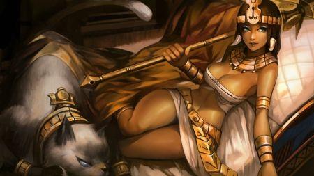 league of legends - girl, league, spear, legends, cat