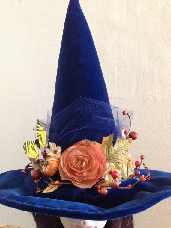 Witches Hat Autumn Blues Halloween Witch by MermaidenCreations