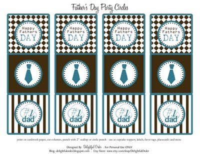 FREE Father's Day printable: Circles, Father'S Day Gifts, Circle Tags Pdf, Gift Ideas, Free Downloads Printables, Fathers Day, Delightful Order, Free Printables